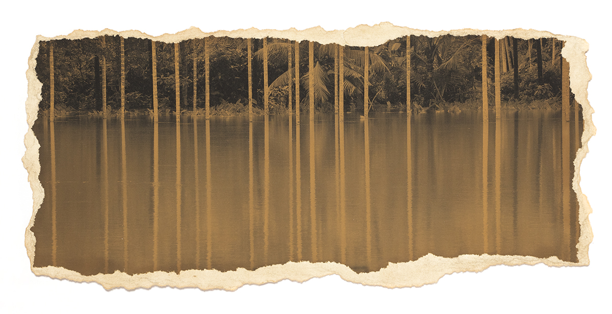 'The Flood', printed 2012, stained 2018, pigment stained photograph,11 x 8 in, unique Edn.